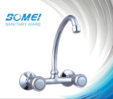 Dual Handle Brass Body and Cartridge Kitchen Faucet (BM58602)