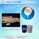 Platinum Cured Liquid Silicone Rubber for Making Artificial Body Tattoo