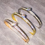 Fashion Stainless Titanium Steel Diamond Bangle Bracelet Jewelry