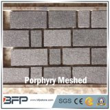 Meshed Cobblestone--Dark Porphyry for Square Paver Tile