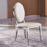 China Wholesale Stainless Steel Restaurant Furniture White Dining Chair