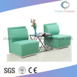 Chinese Stylish Furniture Living Room Fabric Green Color Office Sofa