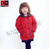 Girls Woven Jacket for Spring with Hood