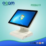 """POS8619 15"""" Touch All in One PC Cash Register POS Terminal with Dual Screen Optional"""