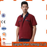 100% Cotton Good Qualitystaff Working Uniform with Short Sleeve