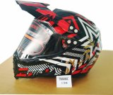 Motocross Fox Helmet with Full Face Shield Double Visor, Casco Moto