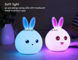 7-Color Cartoon Animal Silicone Touch Sensor Night Light for Gifts