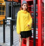 High Quality Hand Knitting Girls Chunky Cable Knit Jumper Sweater