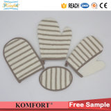 Bamboo Fiber Softtextile Bath Sponge Hand SPA Tools Bath Glove