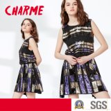 Machine Embroidery Sequins Beading Party Dress