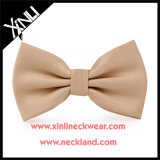 Jacquard Woven 100% Silk Custom Nude Color Bow Tie