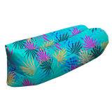Portable Lounger Outdoor Folding Printing Air Inflatable Sofa Sleeping Bag