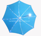 Outdoor Rain Straight Gift Umbrella with LED Light on Ribs