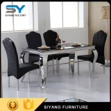 Wholesale Furniture 6 Seater Glass Table Black Dining Tables