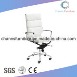 Fashion Chrom Metal White Manager Leather Chair Office Furniture