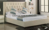 Morden Fabric Nailed Double Bed Home Furniture (OL171780)
