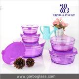 5PCS Colred Sprayed Glass Bowl Set GB1402-P