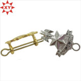 Gift Metal Pin Badge with Shiny Siliver Gold Plating