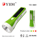 New Design Rechargeable Solar Electric Torch Flash Light