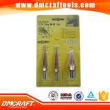 HSS Tin-Coated Step Drill Bits 3PCS Set