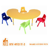 Red, Yellow, Bule, Green Color Kids Plastic Table and Chair Set