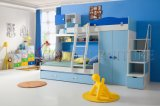 Modern Blue Boys Style Wooden Double Kids Bunk Bed (SZ-BF805)