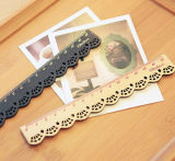 Cute Clear and Lovely Lace Wooden Ruler