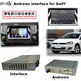 VW Golf7 Car Video Interface (2AV input + android+Bluetooth+Mirror Link + Front/rear camera input)