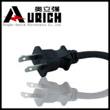 UL Authentication PVC Material 2pin AC Power Cord with Plug