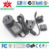New Design UL, CE, SAA BS 36W Interchangeable Plugs Adaptor 24V1.5A 18V2a Switching Power AC/DC Adapters