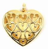 Heart Style Gold Plating Perfume Locket Pendant