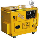 6kw Silent Cart Type Soundproof Electric Gasoline Generators (CE, SONCAP)