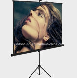 70X70 Inch Floor-Standing Portable Tripod Manual Projector Screen for Sale Factory