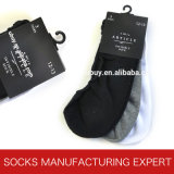 Men′s Cotton Solid Color Invisible Socks