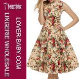 2016 Woman Retro Fashion Casual Summer Dress (L36107-2)