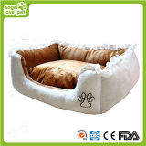 High Quality Embroidered Printed Soft Plush Pet Bed
