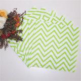 Green Chevon Pattern Serviette for Party Decoration