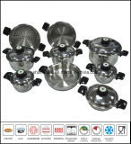15PCS Waterless Greaseless Cookware Set Stainless Steel Cookware