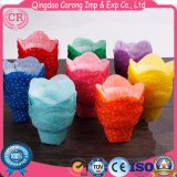 Colorful Custom Printed Greaseproof Paper Tulip Cupcake Liners