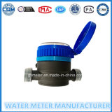 """1/2""-""3/4"" Black Nylon Plastic Single-Jet Dry Type Water Meter"