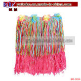 Party Items Promotional Flower Lei Rainbow Hula Skirt (BO-3024)