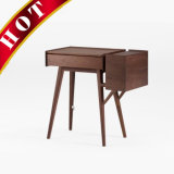 White Oak Wooden Storage Vanity Make up Dressing Table with Mirror