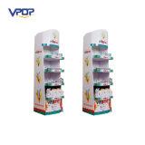 Cosmetics Paper Floor Display Shelves Retail Store Cardboard Floor Display