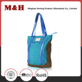 Vertical Rectangle Woman Leather Handbags Shopping Bag