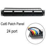 Wonterm Unshielded 19′′ 24 Port CAT6 Patch Panel ABS-UL-94V0