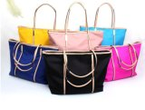 Fashion Modern Lady Leather Simple Shopping Diaper Travel Handbag Bag