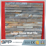 Stacked Rusty Slate Ledge Stone with Culture Stone Corner
