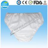 White Nonwoven Disposable Underwear/Briefs for Men