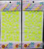 Glitter Sticker Crystal Bling Sticker Luminous Custom Sticker for Children (TP-125 Neon yellow)