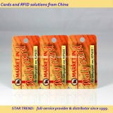 Full Colors Plastic 3 Key Fobs in 1 Card with Barcode